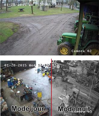 Image caméra jour et nuit