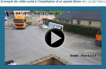 Vidéo speed dome