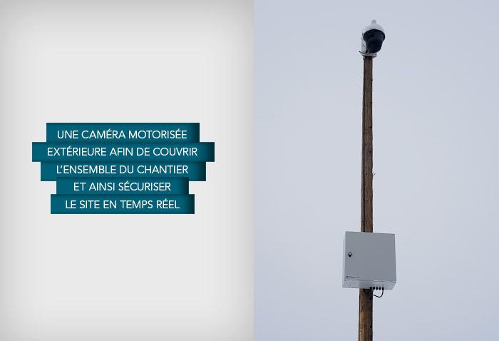 La caméra installée